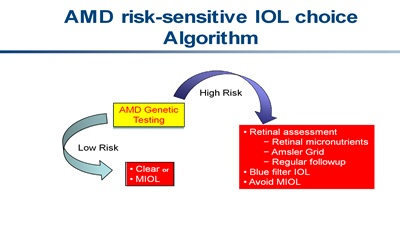 AMD risk-sensitive IOL choice algorithm