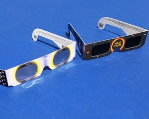 Real and Fake Eclipse Glasses side-by-side