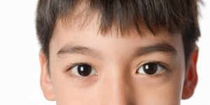 Close-up photograph of child's brown eyes