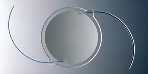 An intraocular lens (IOL) used in cataract surgery