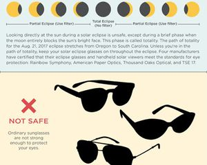 Eclipse Safety Infographic featured image