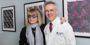 Andrea Hope Rubin with Thomas Steinemann, MD in the clinic.