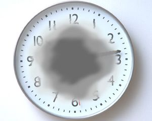 Illustration of a blurry clock