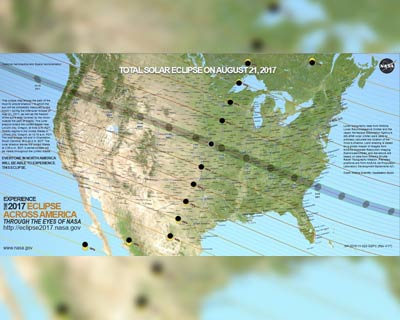 American Eclipse path map