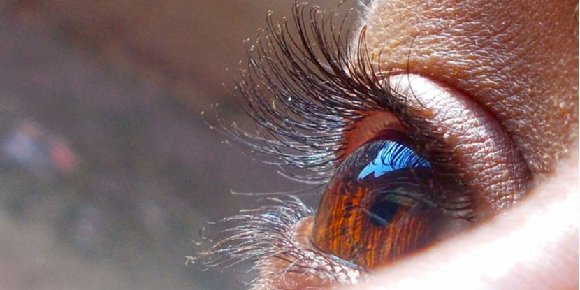 Close-up photograph of a woman's eye