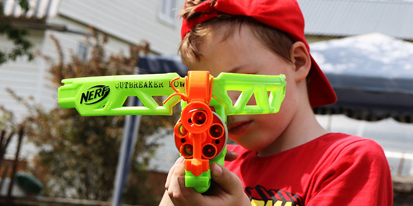 Toy guns, darts and crossbows can cause serious eye injuries.