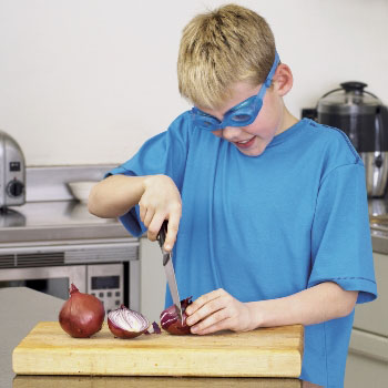 kid in onion goggles