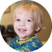 Cooper, whose eye and life were saved from retinoblastoma by ophthalmic care.