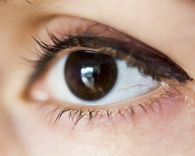 Closeup of a brown eye