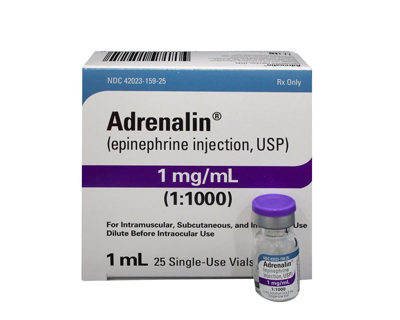 Alert Possible Shortage Of Epinephrine For Intraocular