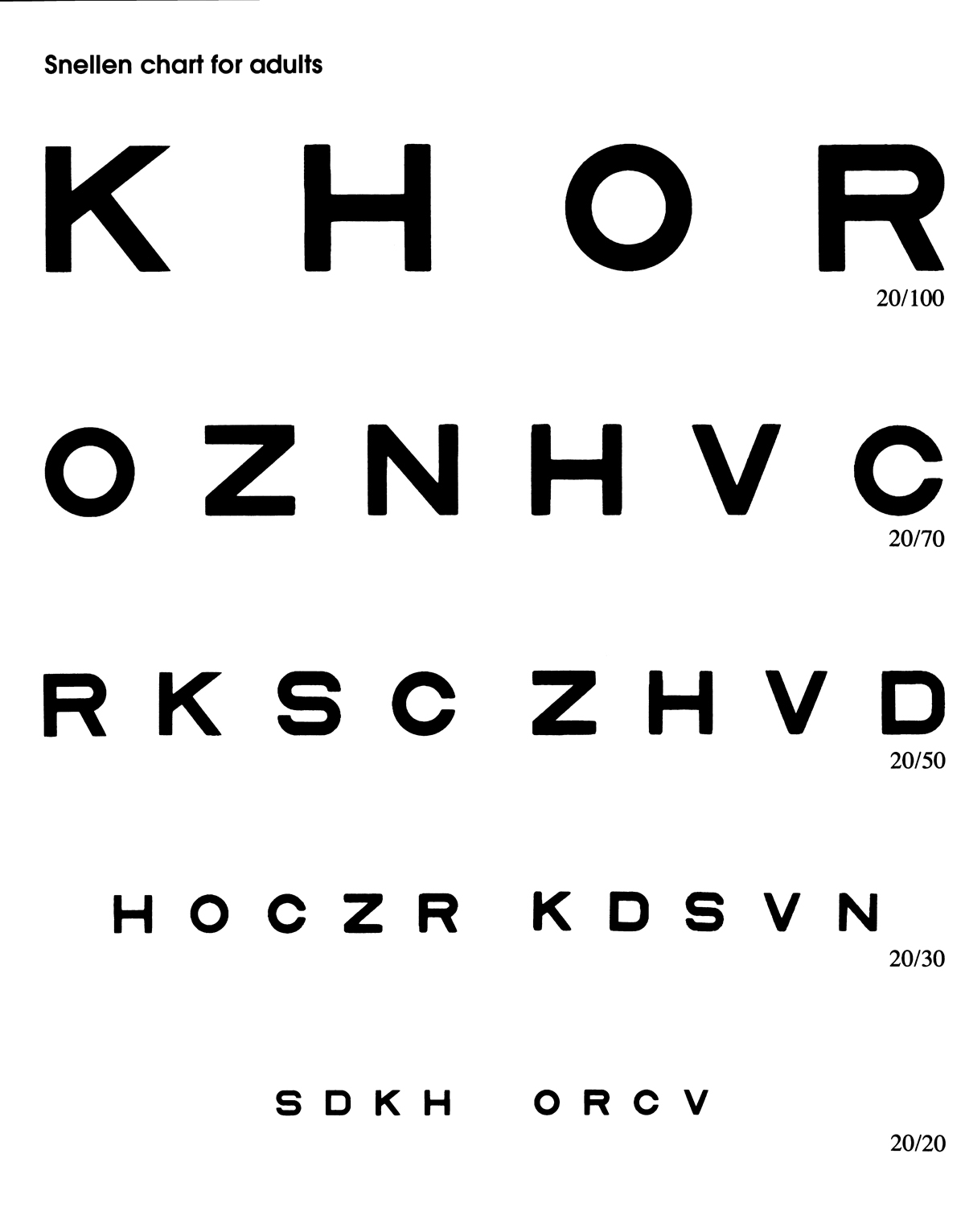 Home eye test for children and adults american academy of adults home eye test chart nvjuhfo Image collections