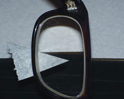 Eyeglasses with prism correction