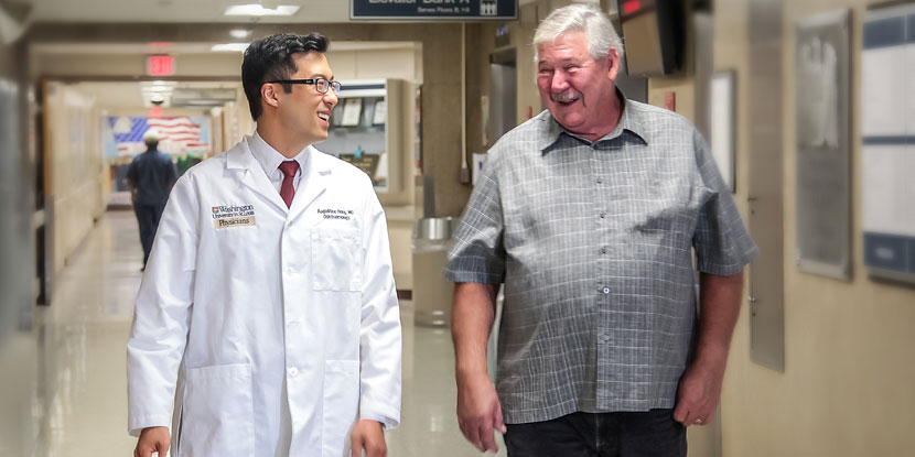 Augustine Hong, MD, performed a cornea transplant on Bobby Moyers, a U.S. veteran, to save his sight.