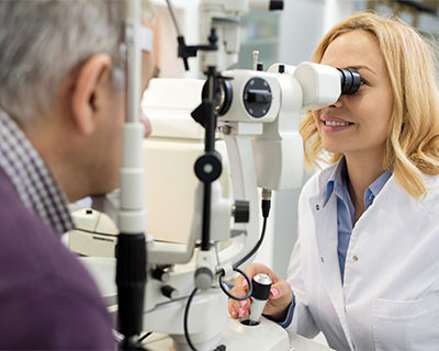 Patient has their nearsightedness checked