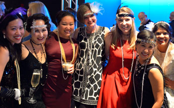 Left to right: Young ophthalmologists Grace Sun, MD; Diana Shiba, MD; Jiaxi Ding, MD; Natasha Herz, MD; Lindsay Rhodes, MD; Janice Law, MD; and Purnima Patel, MD, at the 2014 Orbital Gala in Chicago.