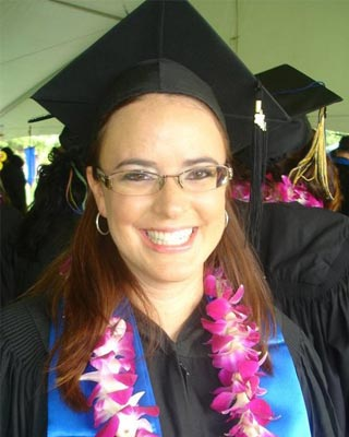Stephanie Beaver Adler at her graduation from University of California, Davis.