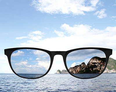 Polarized sunglasses reduce glare from water