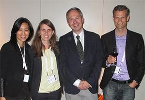 Left to right: Drs. Grace Sun, Marie Louise Roed Rasmussen, Stefan Seregard and Gauti Johannesson.