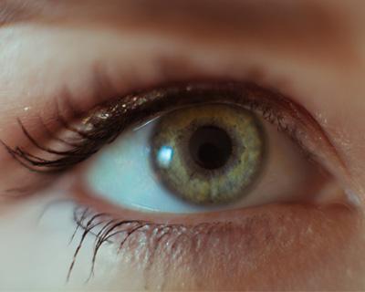 Closeup of a green eye