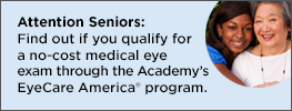 EyeCare America - no-cost medical eye exams for qualifying seniors