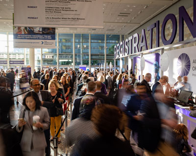 Registration at AAO 2019 in the West Building.