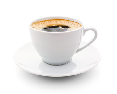 Photograph of a cup of coffee